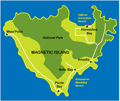Magnetic Island Schoolies Accommodation Map